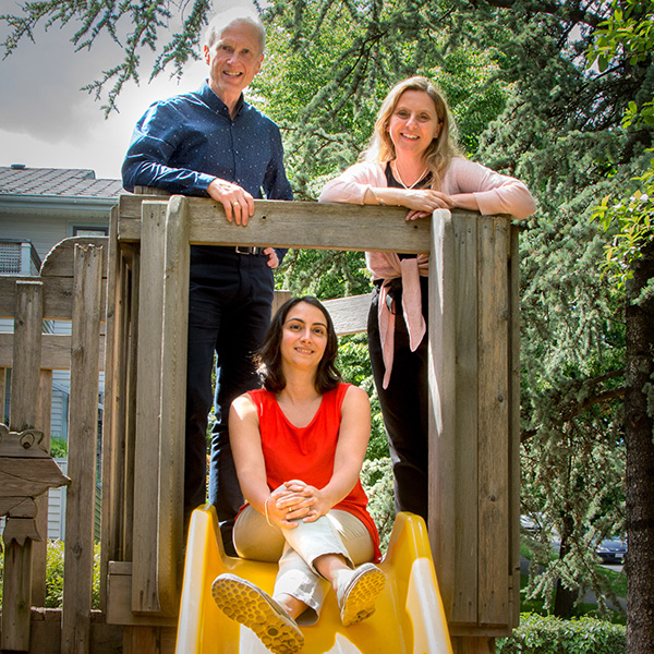 Gary, Anna, and Maryam of Frog Hollow Reggio-Inspired Learning Centre